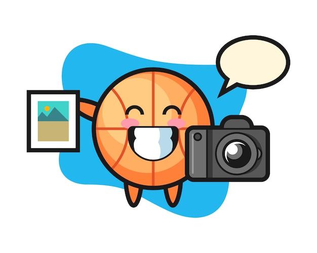 写真家としてのバスケットボールの漫画