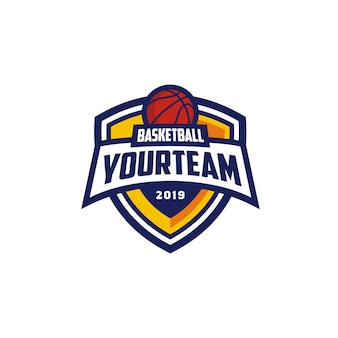 Basketball club emblem badge logo design