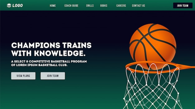 Basketball club website.