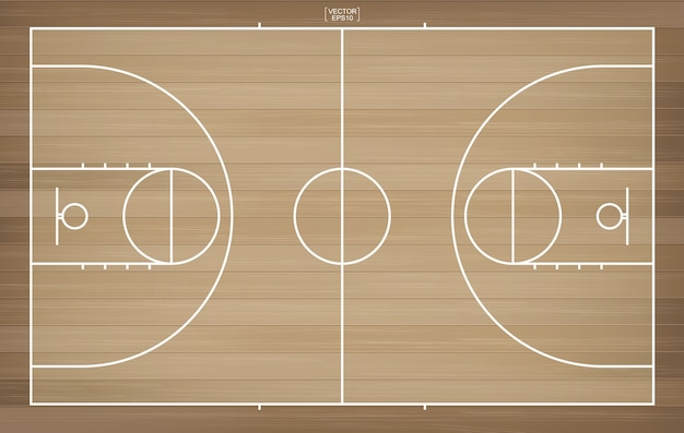 Basketball court for background.