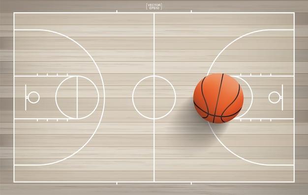 Дизайн концепции баскетбольной площадки
