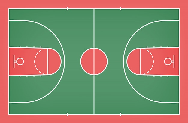 Basketball court floor with line pattern for background.