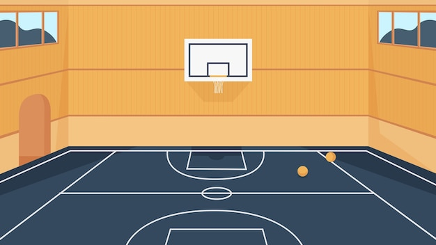 Basketball court illustration.