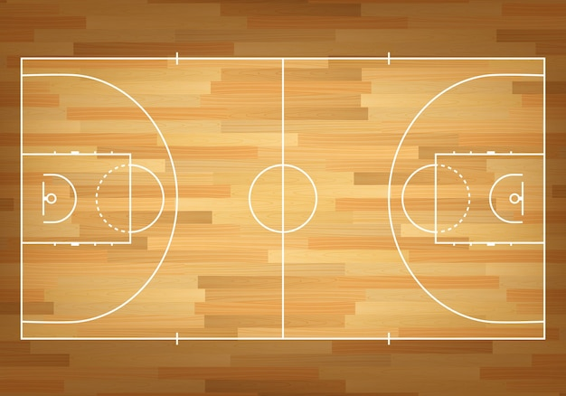 Basketball court on top.