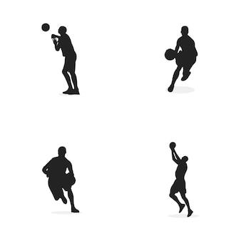 Basketball design concept illustration silhouette vector