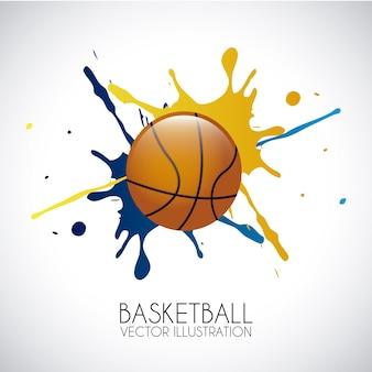Basketball design over gray background vector illustration