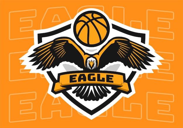 Basketball eagle badge logo