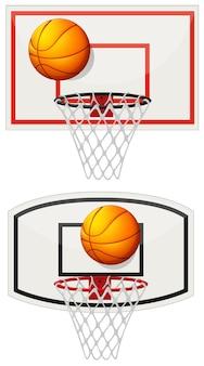 ボールとネットを備えたバスケットボール用品