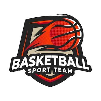 バスケットボールeスポーツマスコット漫画ロゴベクトルテンプレート