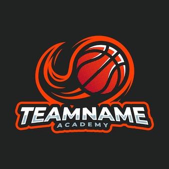 Basketball esport mascot cartoon logo vector template