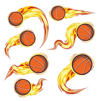 Basketball on the fire set