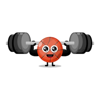 Basketball fitness cute character mascot