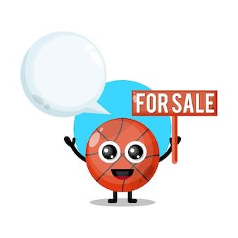 Баскетбол на продажу милый персонаж талисман
