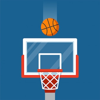 Basketball hoop and ball illustration