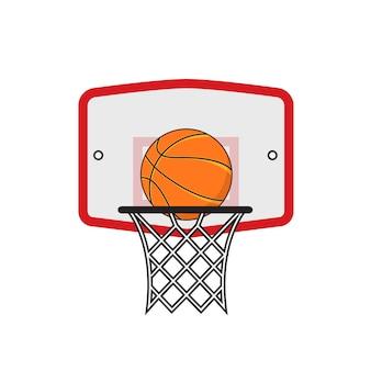 Basketball hoop and orange ball