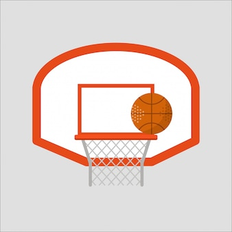 Basketball hoop sport basket vector illustration.