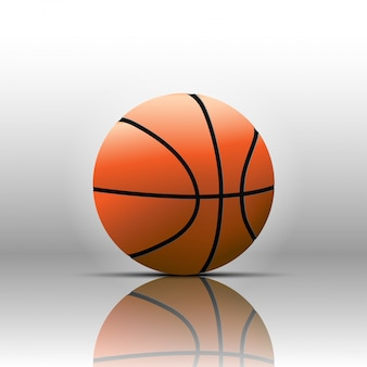 Basketball isolate on white background