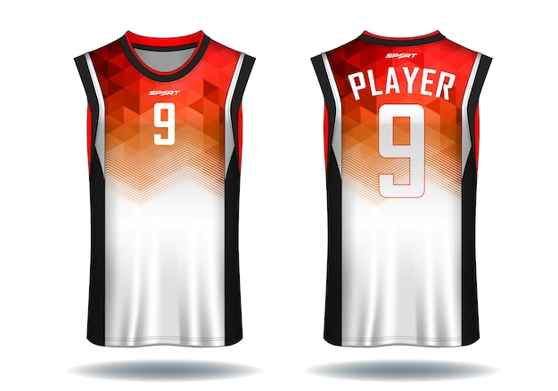 Basketball jersey, tank top sport illustration.