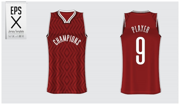 Basketball jersey template design