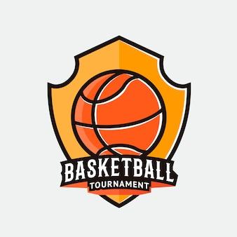 Баскетбольный логотип, ярлык, значок, эмблема