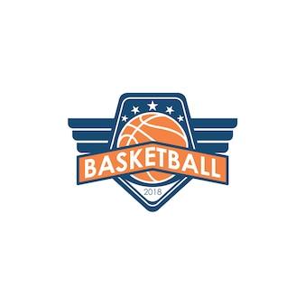 Шаблон логотипа баскетбола