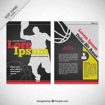 バスケットボール雑誌のテンプレート