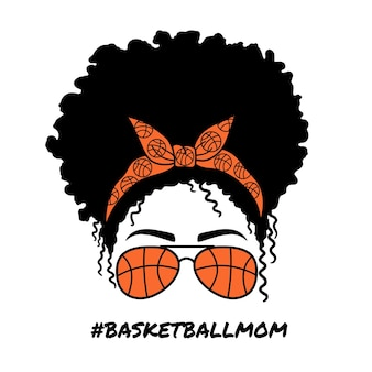 에비에이터 안경을 쓴 농구 엄마 여성 반다나 아프리카 여성