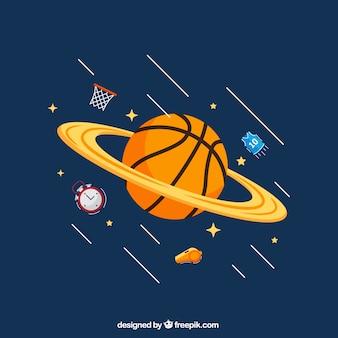 Basketball planet background