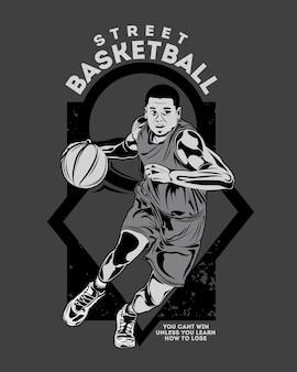 バスケットボール選手のキャラクター、バスケットボール選手権のイラスト