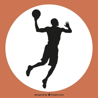 Basketball player jump vector