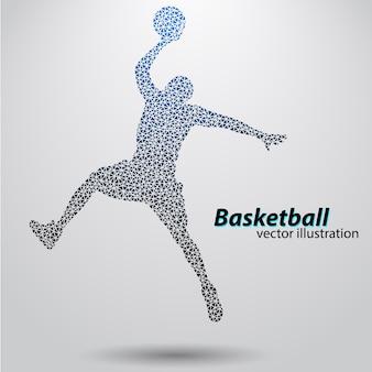 삼각형의 농구 선수.