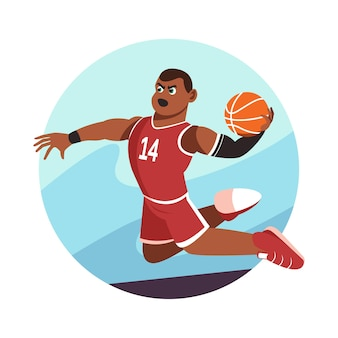 Баскетболист slam dunk