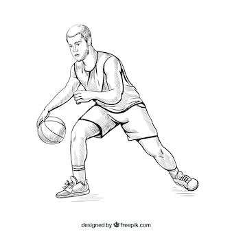 Basketball player with sketchy style
