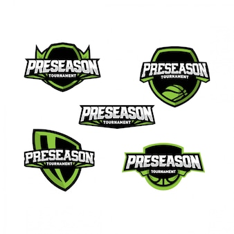 Basketball preseason logo pack