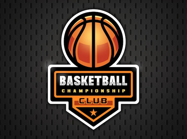 Basketball professional logo in flat style sport games