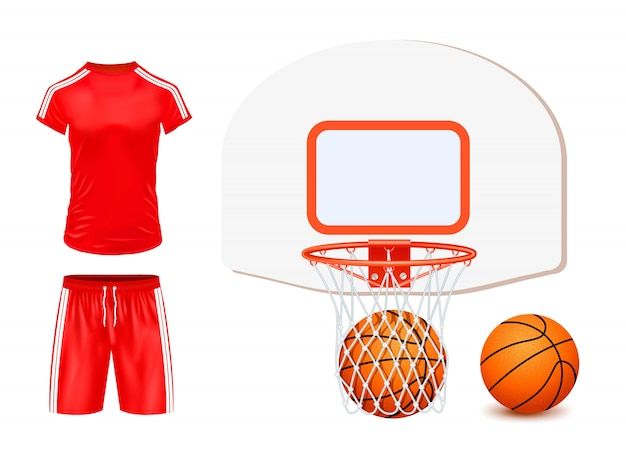 Basketball set illustration isolated