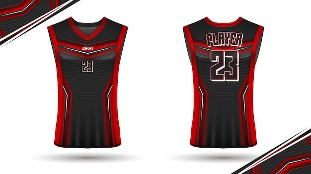Basketball shirt design, front and back