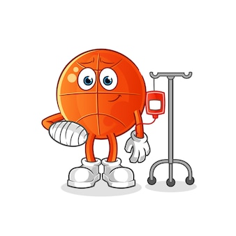 Баскетбол, больной на iv иллюстрации. персонаж