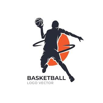 Basketball sillhoutte vector logo
