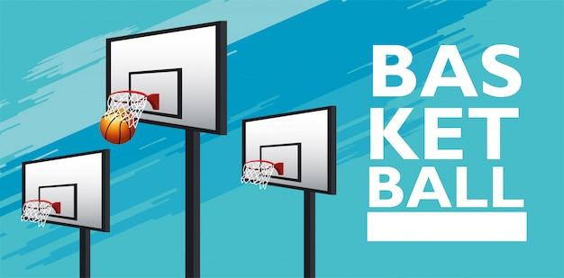 Баскетбольный спортивный баннер
