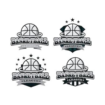 Basketball sport black white logo
