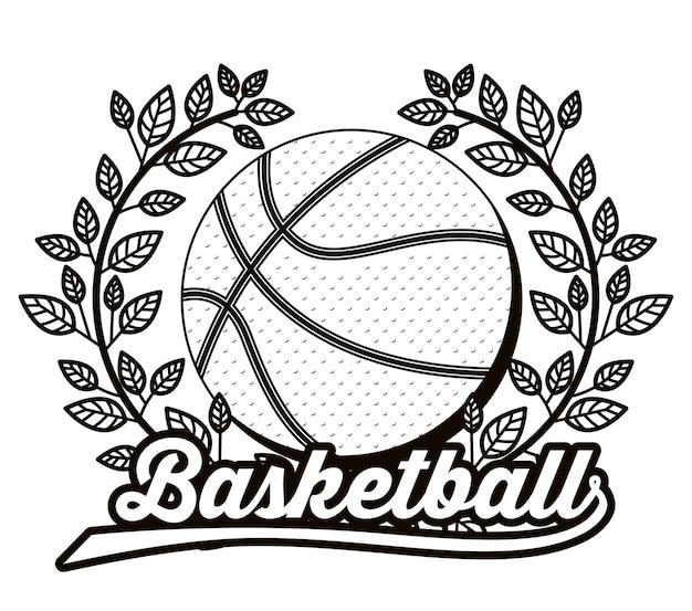 Спортивный дизайн баскетбола