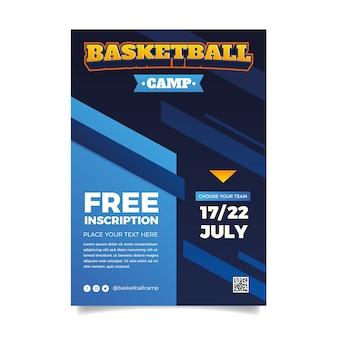 Basketball sport flyer template