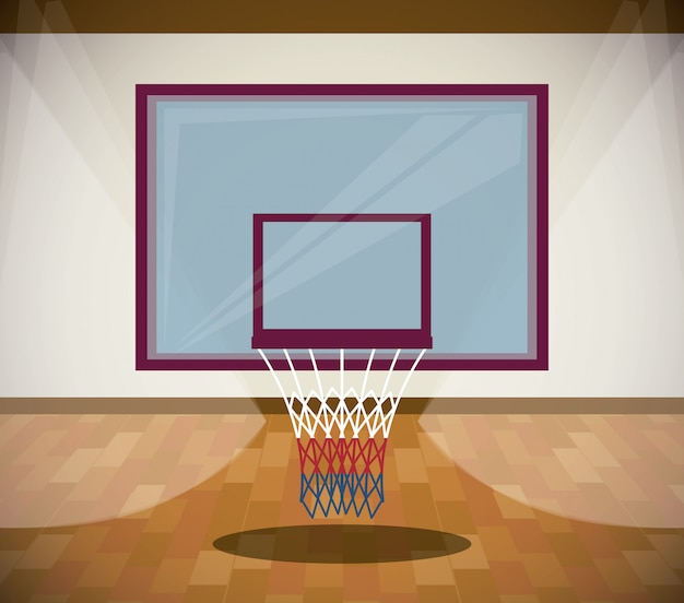 Basketball sport game scenery cartoon