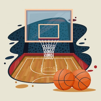 Basketball sport game scenery