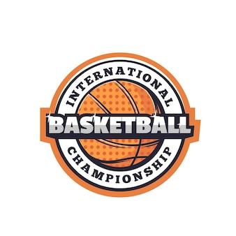 ハーフトーンパターンの孤立したベクトルボールのバスケットボールスポーツアイコン。きらめき、スポーツ競技トーナメント、チャンピオンシップマッチアイコンとバスケットボールのゲームチームプレーヤーオレンジ色のゴムボール