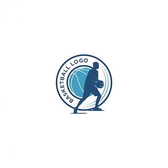 Basketball sport logo