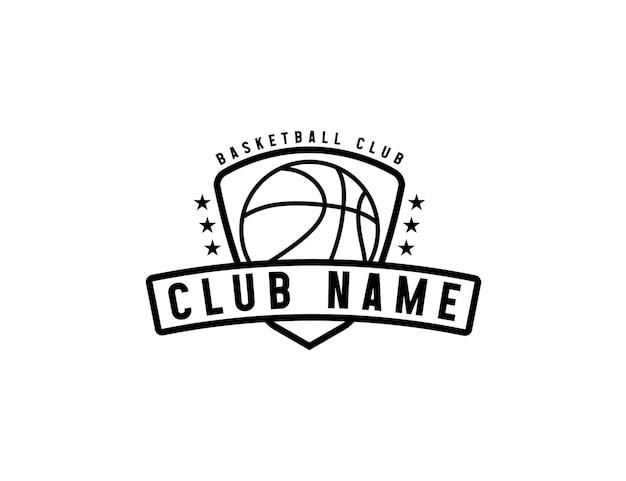 Basketball sport team emblem logo design