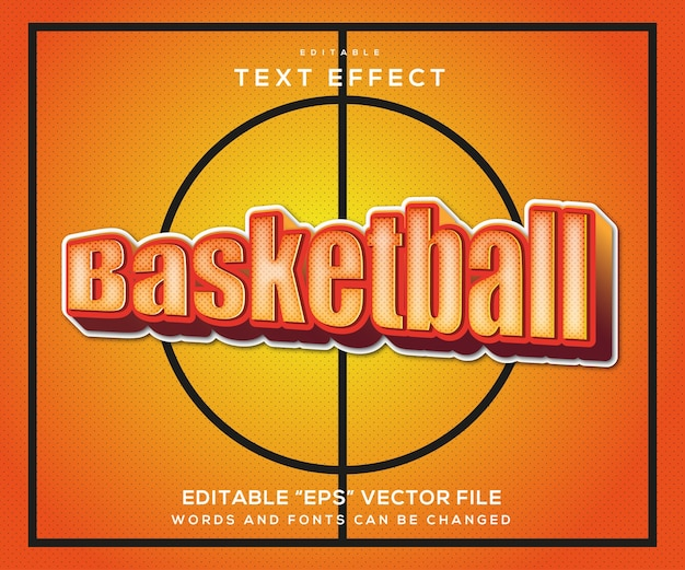Basketball text effect style