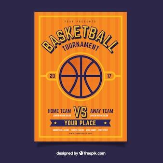 バスケットボール大会のパンフレット
